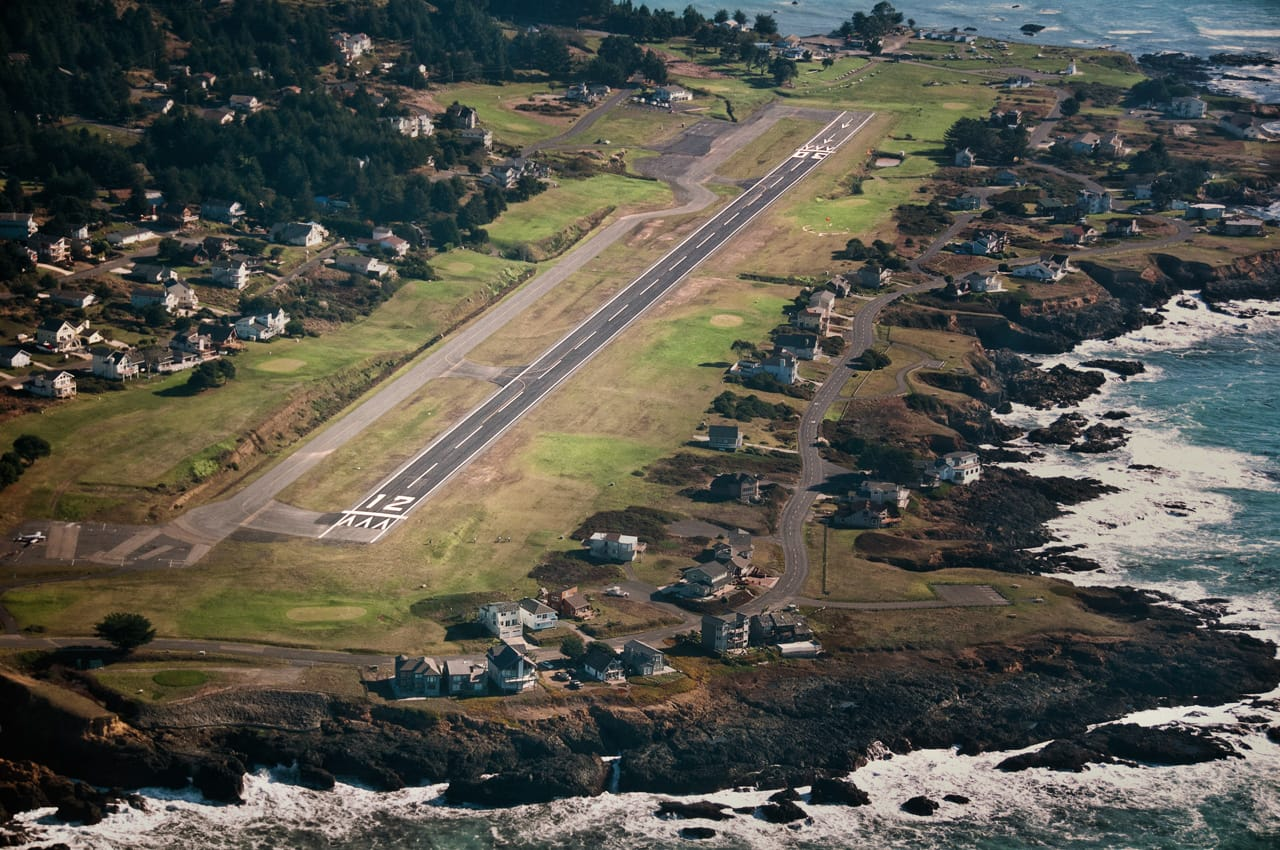 pov from airplane on landing approach to Garberville Airport shelter cove airport hotel Shelter Cove Airport | Humboldt County airport shelter cove