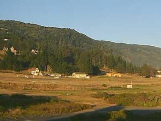 Shelter Cove Airport runway view, and sunrise, from southeast facing webcam - thumbnail  Shelter Cove Sunset Cam webcam shelter cove airport runway
