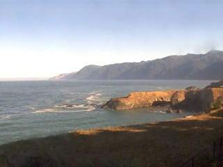 Northwest coastline webcam view of Shelter Cove overlooking Little Black Sands Beach and King Range NCA from the Inn of the Lost Coast - thumbnail  Shelter Cove Sunset Cam webcam shelter cove northwest