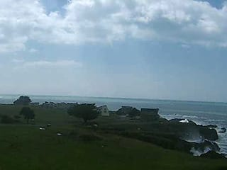 Southwest coastal view of Shelter Cove, including northwest end of airport runway, from Inn of the Lost Coast Shelter Cove webcam - thumbnail  Hotel Room View   Inn of the Lost Coast webcam shelter cove southwest